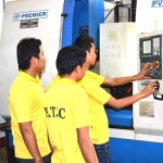 Trainees hands on CNC Machine Centre
