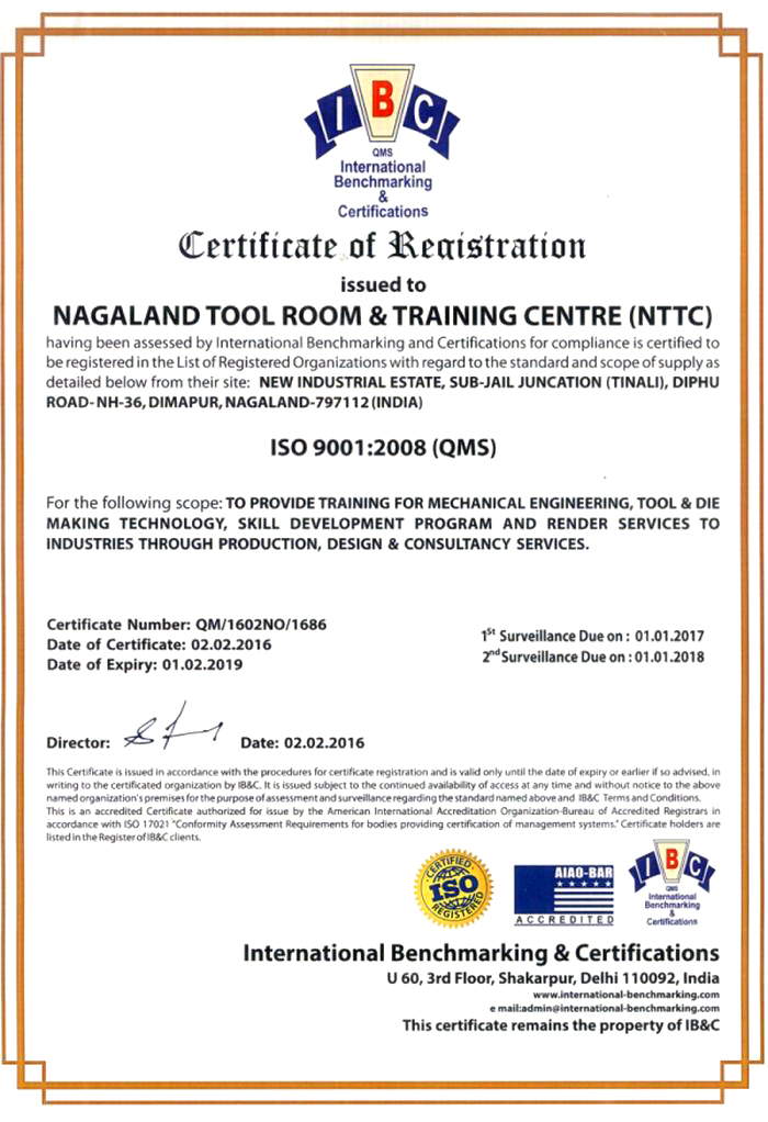 ISO Certificate- 2016